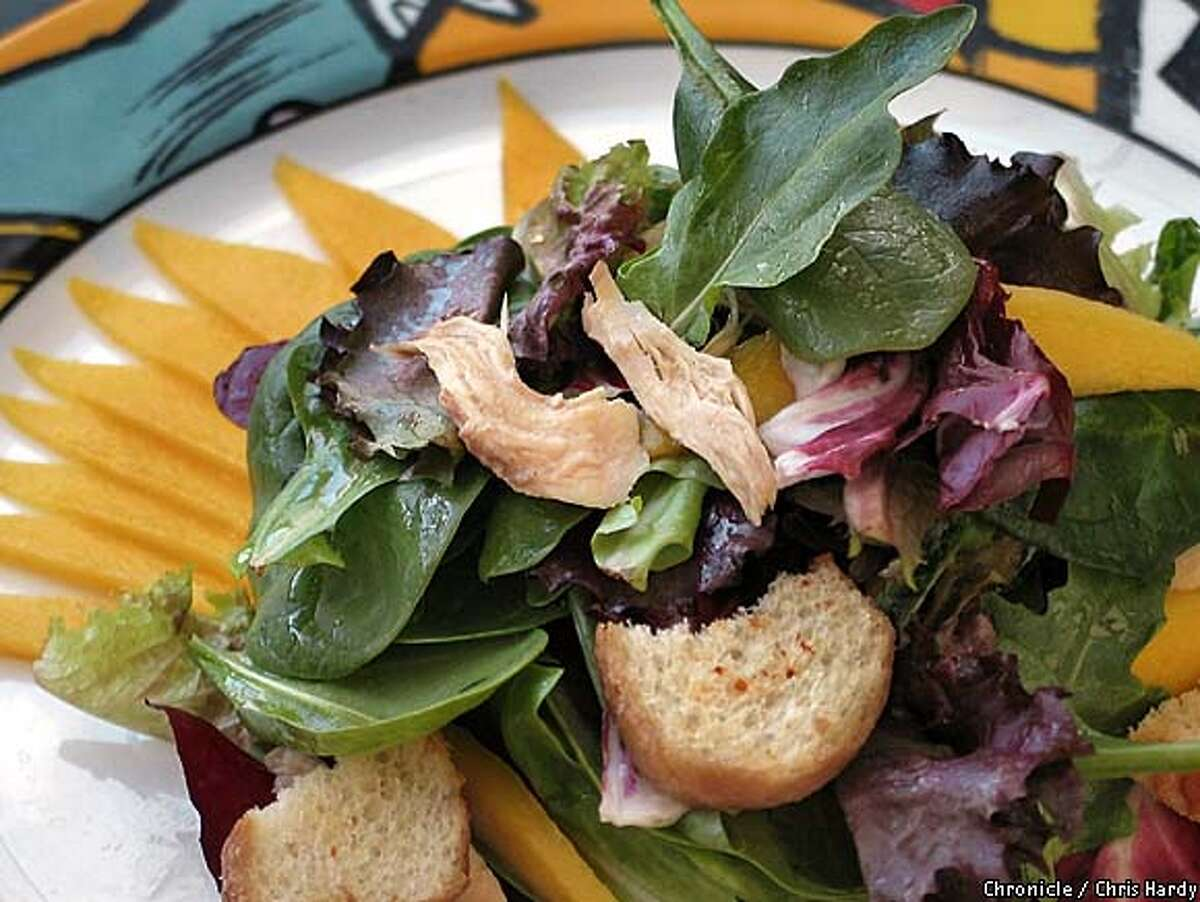 Salad with chicken and mango and basil 5/12/03 in San Francisco. CHRIS HARDY / The Chronicle