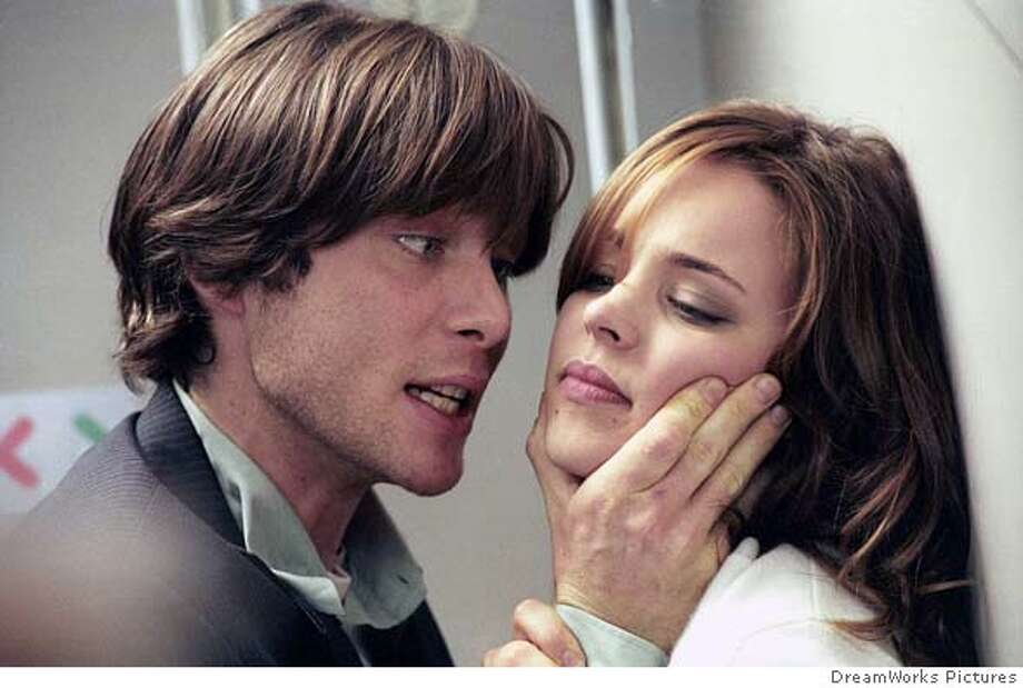 "Actor Cillian Murphy (L) restrains Rachel McAdams in the thriller ""Red Eye"" in Los Angeles in this undated publicity photo released on August 16, 2005. The movie opens in the U.S. on Friday. NO ARCHIVES NO THIRD PARTY SALES DreamWorks Pictures/Handout 0 Photo: HO"