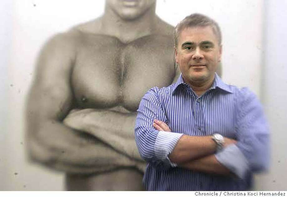 John Rutherford, of Colt Studios, a major gay porn figure, at his office in lower Potrero Hill. (CHRISTINA KOCI HERNANDEZ/CHRONICLE) CHRONICLE Photos by CHRISTINA KOCI HERNANDEZ Photo: CHRISTINA KOCI HERNANEZ/CHRONICL