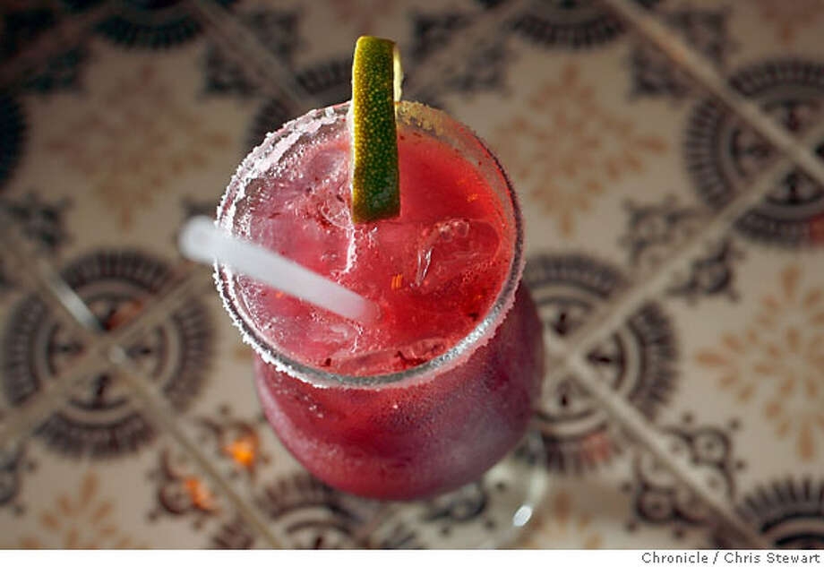 BARBITES22_033_cs.jpg  The blueberry margarita cocktail at the Velvet Cantina. This is a Mexican-themed restaurant and bar in the Mission District at 3349 23rd Street, San Francisco. For 96 Hours Bar Bite. Photographed February 7, 2007 in San Francisco, California.  Chris Stewart / The Chronicle Bar Bite Photo: Chris Stewart