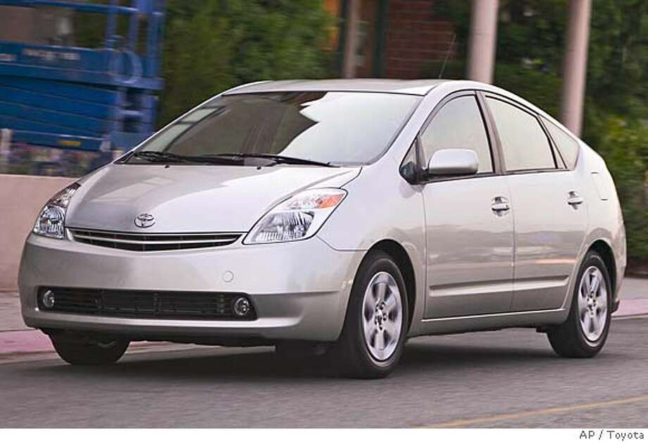 ** FILE ** The 2004 Toyota Prius is shown in this undated file photo released by Toyota, Wednesday, Nov. 19, 2003. The government has opened an investigation of the hot-selling hybrid Toyota Prius amid reports of the engine stalling without warning, officials said Wednesday, June 1, 2005. (AP Photo/Toyota) Ran on: 06-03-2005  The Prius has been hugely popular in the United States, with people waiting months to buy one. Ran on: 07-30-2005  The Toyota Prius is one of three hybrid cars whose owners can drive in the carpool lane if President Bush signs a bill. Ran on: 07-30-2005  The Toyota Prius is one of three hybrid cars whose owners can drive in the carpool lane if President Bush signs a bill.