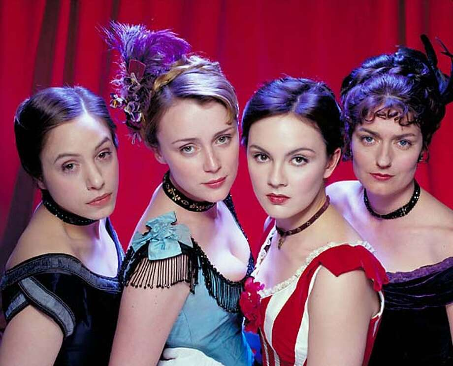 "Keeley Hawes (second left) as Kitty Butler and Rachael Stirling (second right) as Nan Astley in ""Tipping the Velvet."" Photo courtesy of BBC Worldwide"