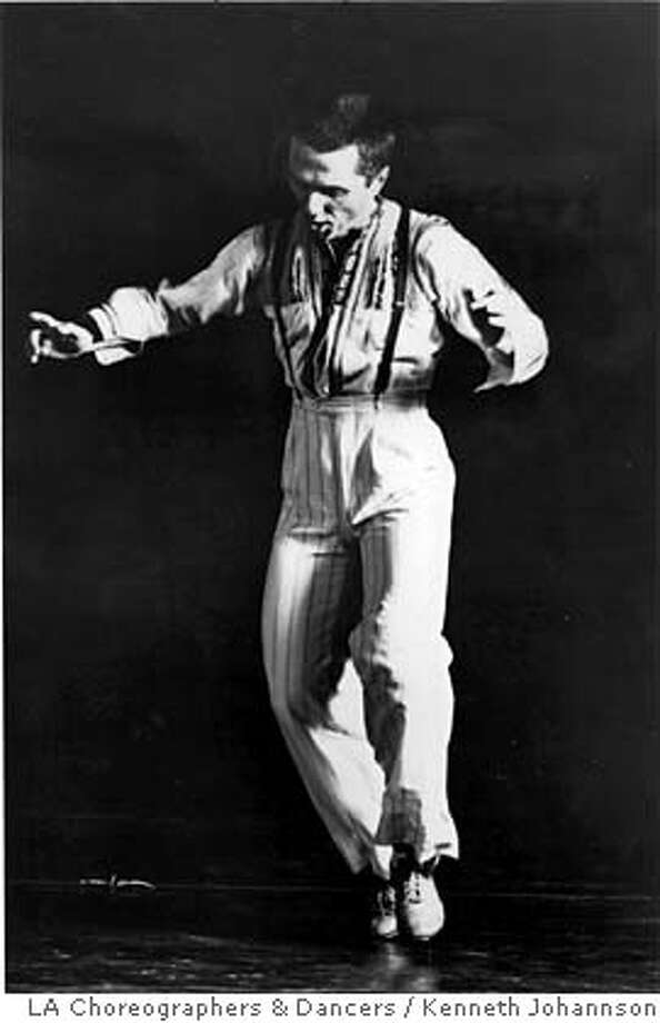 This undated black and white image provided by Los Angeles Choreographers & Dancers, shows dancer Alfred Desio. A choreographer and composer, Desio was also the inventor of electronic tap, Tap-Tronics, a system that allows tap dancers to play electronic instruments using the sound of the taps as a source. Desio died Feb. 14, 2007. (AP Photo/Los Angeles Choreographers & Dancers, Kenneth Johannson) ** NO SALES ** UNDATED BLACK AND WHITE IMAGE PROVIDED BY LOS ANGELES CHOREOGRAPHERS & DANCERS, NO SALES Photo: KENNETH JOHANNSON