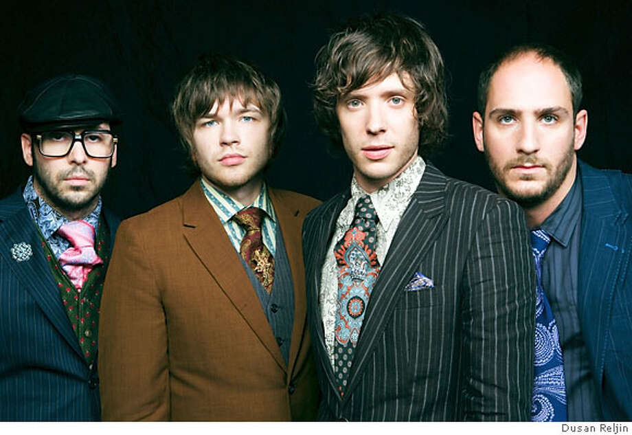 The band OK Go. Left to right: Tim Nordwind, Andy Ross, Damian Kulash, Dan Konopka Ran on: 02-18-2007  The band OK Go: (from left) Tim Nordwind, Andy Ross, Damian Kulash and Dan Konopka. Photo: Dusan Reljin