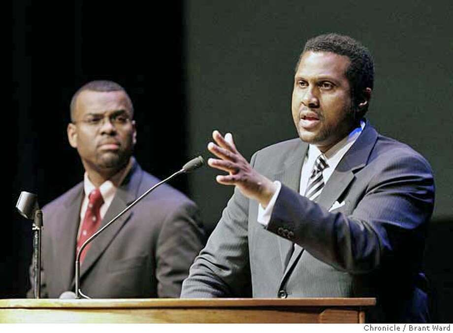 covenant156.JPG  Tavis Smiley, right and Eddie Glaude Jr. took questions from the audience.  Tavis Smiley brought his Covenant Tour to San Francisco for one night Monday, February 12. He was joined by Eddie Glaude Jr. Smiley and Glaude talked about their new books and explained the thinking behind the Covenant Tour, a new way for African Americans to be healthy: politically, socially and physically. The event was held at the Palace of Fine Arts Theatre.  {Brant Ward/San Francisco Chronicle}2/12/07 Photo: Brant Ward