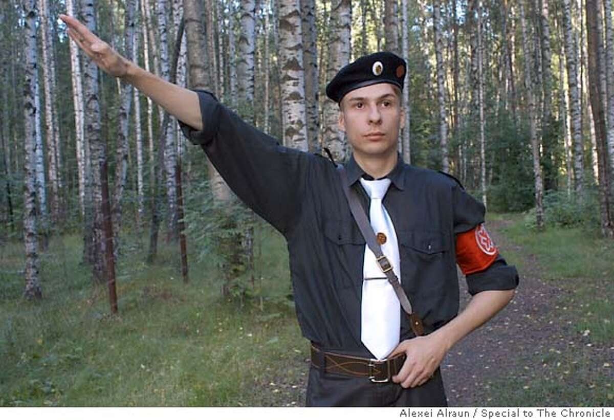 Oleg, member of ultra nationality russian national unity movement. Photo by Alexei Alraun/Special to The Chronicle