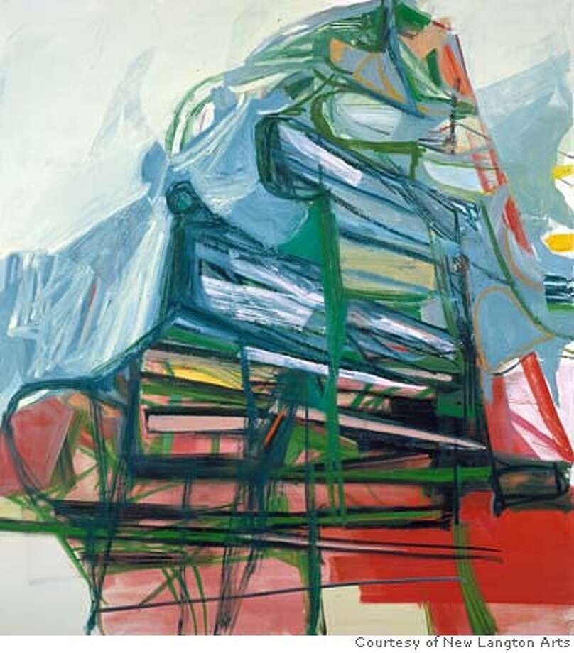 "Caption: ""Big Girl"" (2006) oil on canvas by Amy Sillman Courtesy of New Langton Arts, San Francisco Ran on: 02-17-2007  &quo;Big Girl&quo; (2006) oil on canvas by Amy Sillman, part of the show, &quo;The Good, the Bad and the Ugly,&quo; at the New Langton. Photo: Courtesy Of New Langton Arts, Sa"