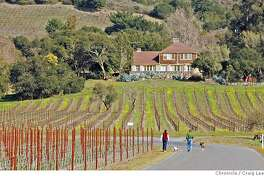 SONOMA23_569_cl.JPG  Story on Sonoma county's growing pains as its wine tourism grows. Photo of the Gundlach Bundschu vineyard with home of Mary Bundschu, the matriarch, in the background. She passed away last July 2006. It now serves as the adminstrative office for the winery.  Event on 2/6/07 in Healdsburg. photo by Craig Lee / The Chronicle MANDATORY CREDIT FOR PHOTOG AND SF CHRONICLE/NO SALES-MAGS OUT