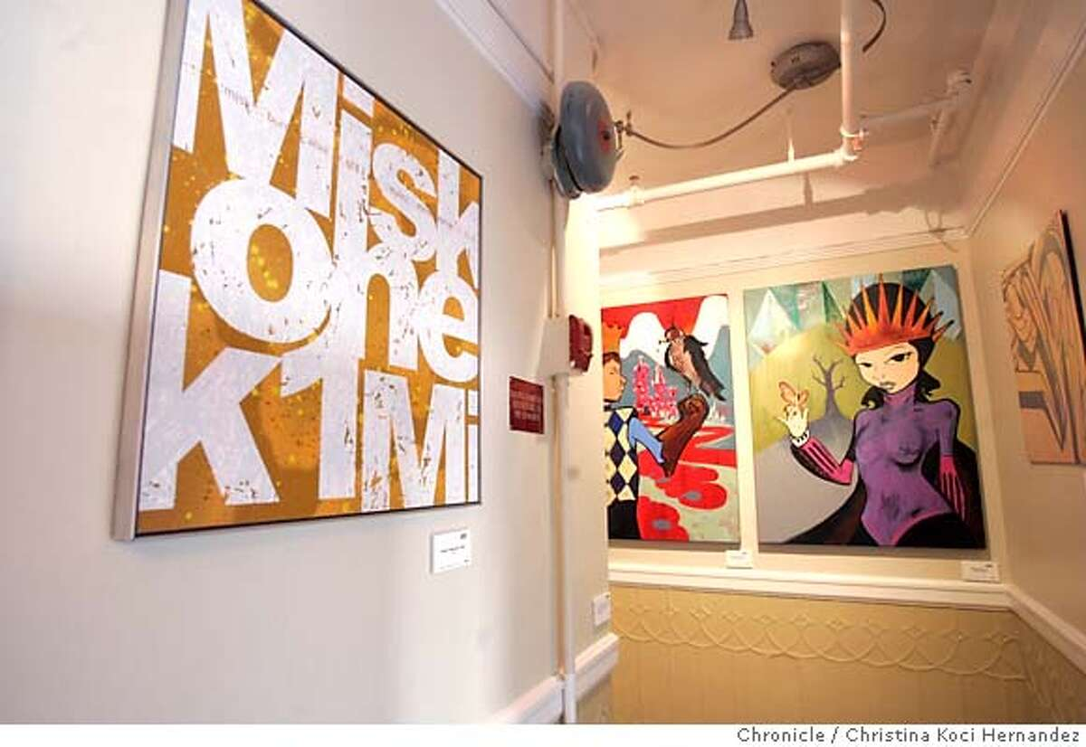 CHRISTINA KOCI HERNANDEZ/CHRONICLE Hotel hallway.We go to the Hotel de Arts in which artists paint hotel rooms in this hotel. We want shots of the art in the hotel rooms and scenes of the hotel as well Please try and avoid shooting the rooms of Tom Gaskin--we've done him to death