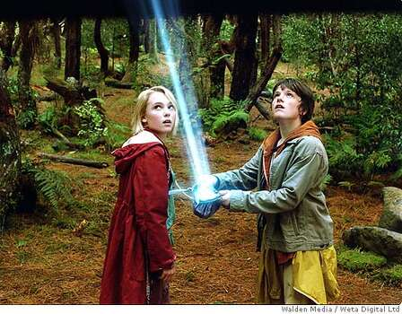 """Bridge to Terabithia"" by Katherine Paterson – On the American Library Association's list of frequently challenged books, it ranked No. 10 in 2003, No. 8 in 2002 – Some complained the book contained occult or Satanist content and offensive language. Above, a still photo from the film adaptation.  Photo: Weta Digital"