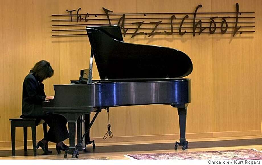 JAZZSCHOOL17A-C-11JAN02-DD-KR  Susan Muscarella plays her piano in the new building that houses The Jazzschool. Photo By Kurt Rogers CAT Photo: Kurt Rogers