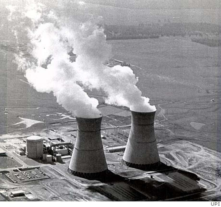 Sacramento -- A boiler room explosion in a non-nuclear area of the Rancho Seco nuclear power plant injured two utility workers June 12, 1984. Plant officials said the injured were burned by the explosion of non-nuclear steam, which contained caustic material. Photo: United Press International