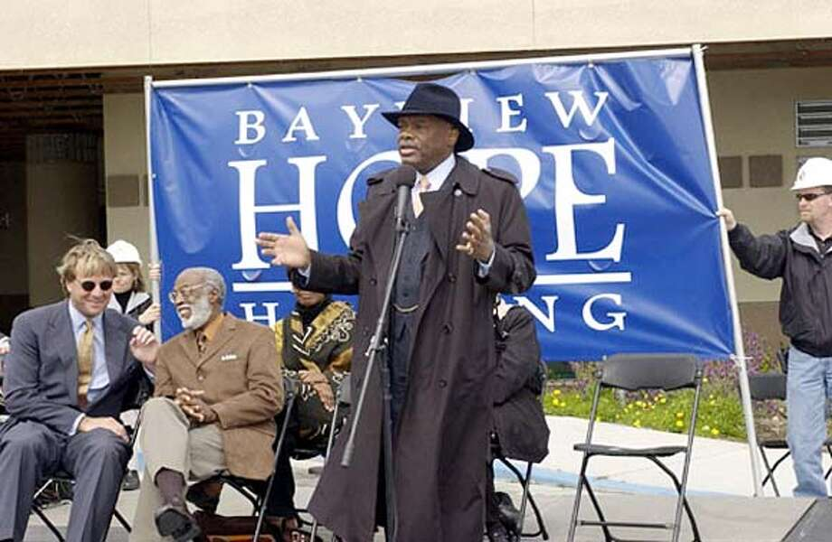 l to r: Marty Dalton, Rev. Arelious Walker, and SF Mayor Willie Brown Jr. HANDOUT PHOTO Photo: HO