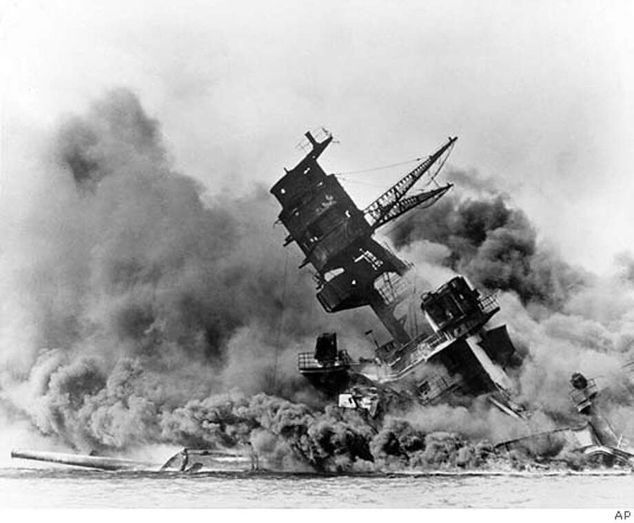 When the Arizona sank in the 1941 attack on Pearl Harbor, it held 1.2 million gallons of oil, which slowly leaks from the sunken ship. Associated Press File Photo