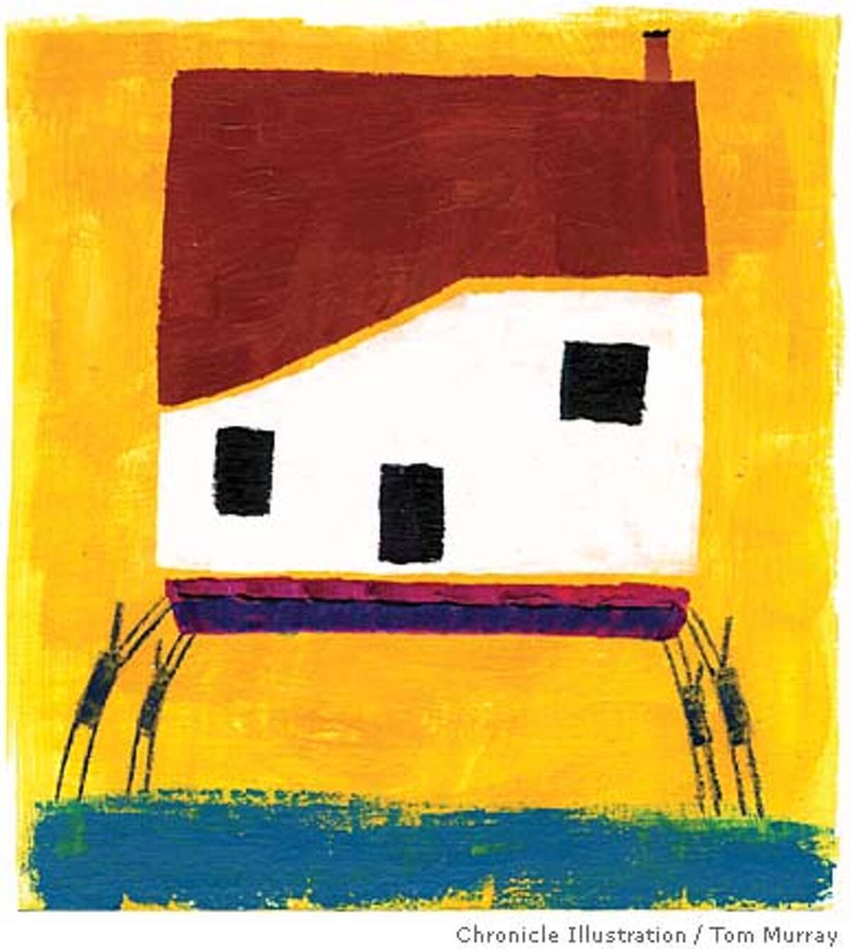 Cohousing. Chronicle illustration by Tom Murray