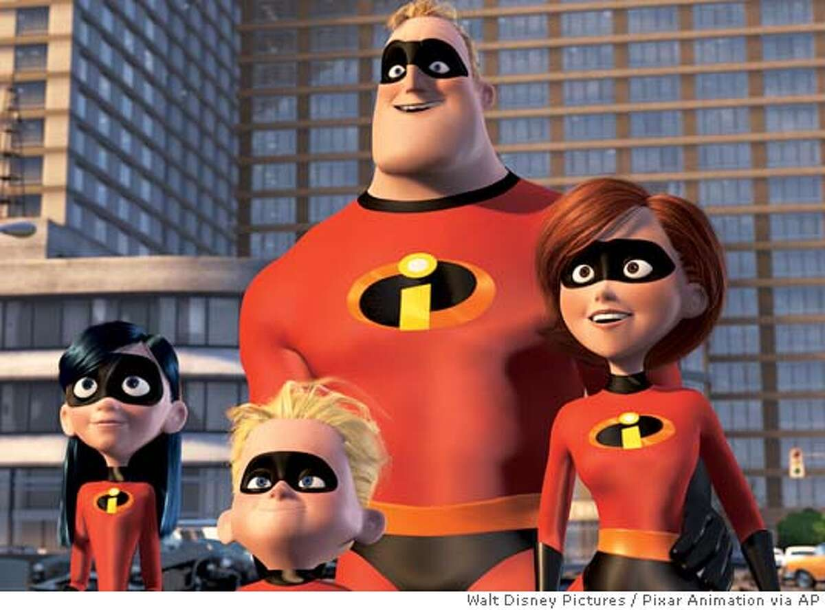 """(Left to right) Violet Parr, Dashiel """"Dash"""" Parr, Mr Incredible, and Elasticgirl, in Walt Disney Pictures/Pixar Animation Studios' """"The Incredibles."""" (AP Photo/Walt Disney Pictures/Pixar Animation) ALSO Ran on: 12/12/04 Mom, dad and the kids: suited up in the suburbs in The Incredibles. Violet Parr, Dash Parr, Mr. Incredible and Elastigirl in The Incredibles are big moneymakers. R Ran on: 03-15-2005 The Incredibles, a family of superheroes who are forbidden from using their special powers in public."""