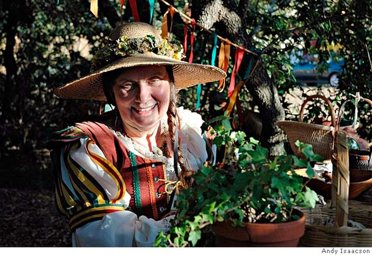 Phyllis Patterson, who conceived and created the Renaissance Faire in America in 1963---she is shown here on July 16, 2005, at the Renaissance Faire in Novato, CA. PHOTO CREDIT: Andy Isaacson.
