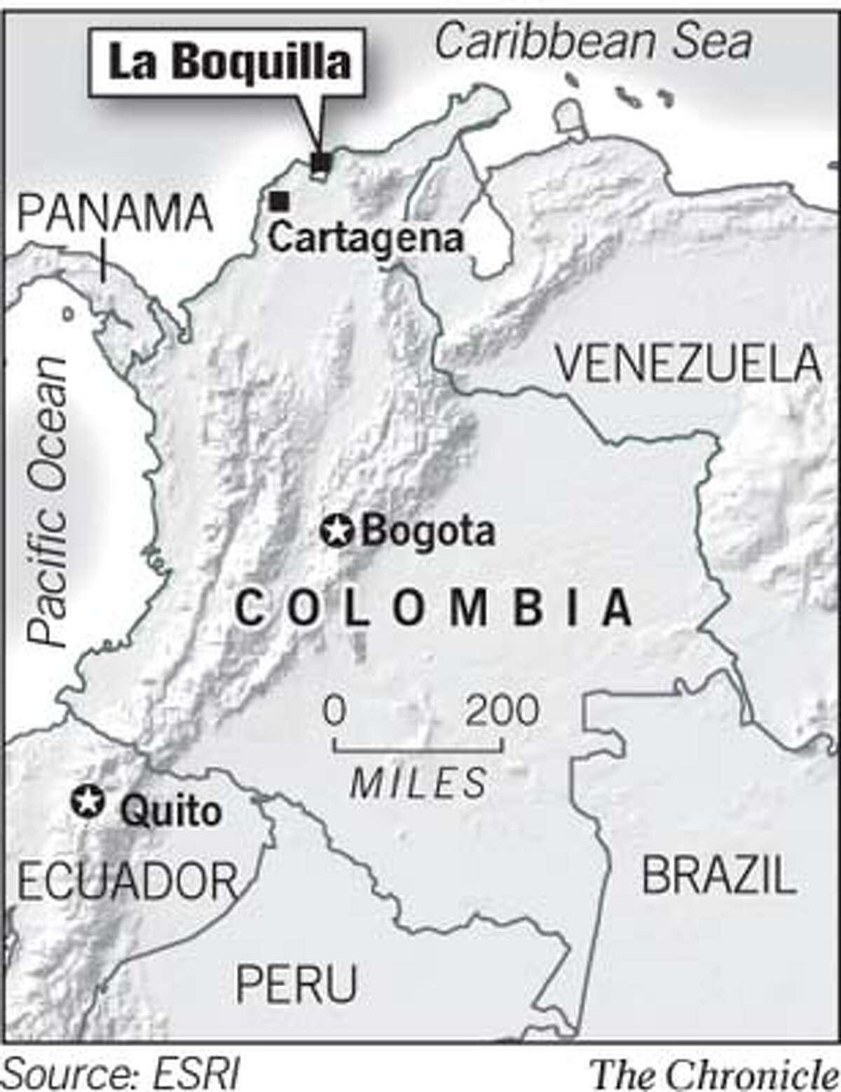 La Boquilla, Colombia. Chronicle Graphic
