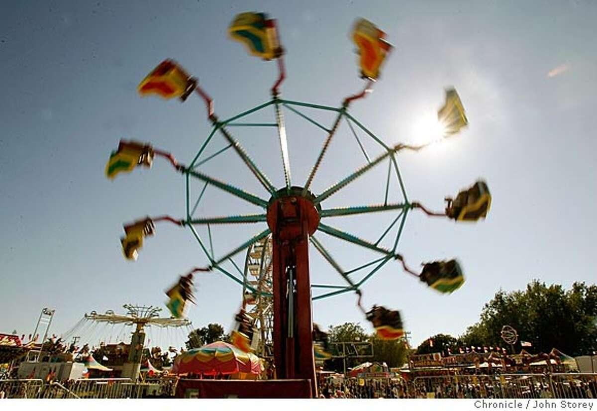Story about then Sonoma County Fair in Santa Rosa. John Storey Santa Rosa Event on 7/28/05 -