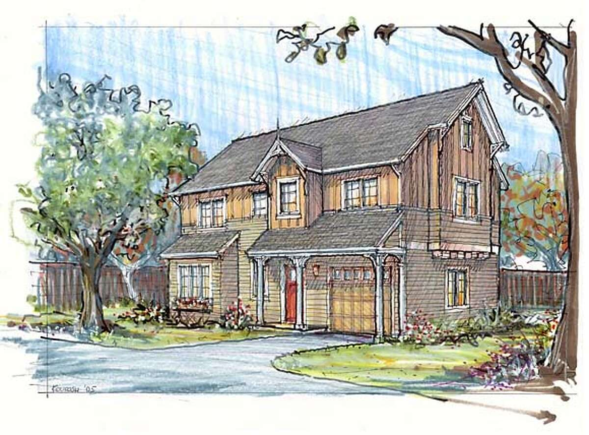 rendering of one of the new homes at Virginia Grove -- to go with Real Estate story affordable11.