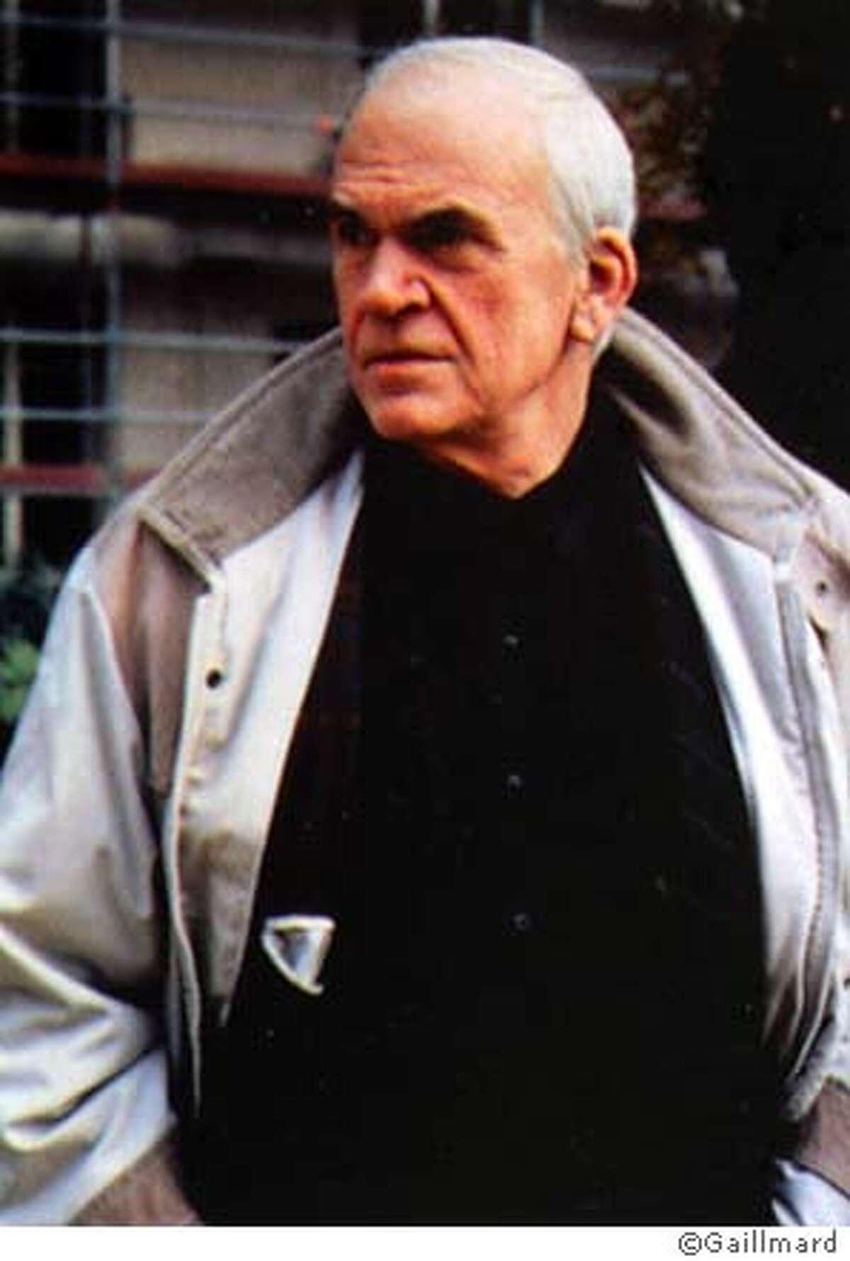 Milan Kundera. Photo copyright Gaillmard