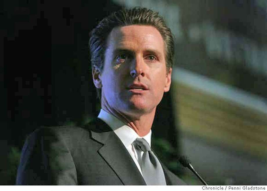 AT THE Annual Fox Sports Bay Area luncheon, GAVIN NEWSOM speaks  Event on 2/8/07 in San Francisco.  penni gladstone / The Chronicle Photo: Penni Gladstone