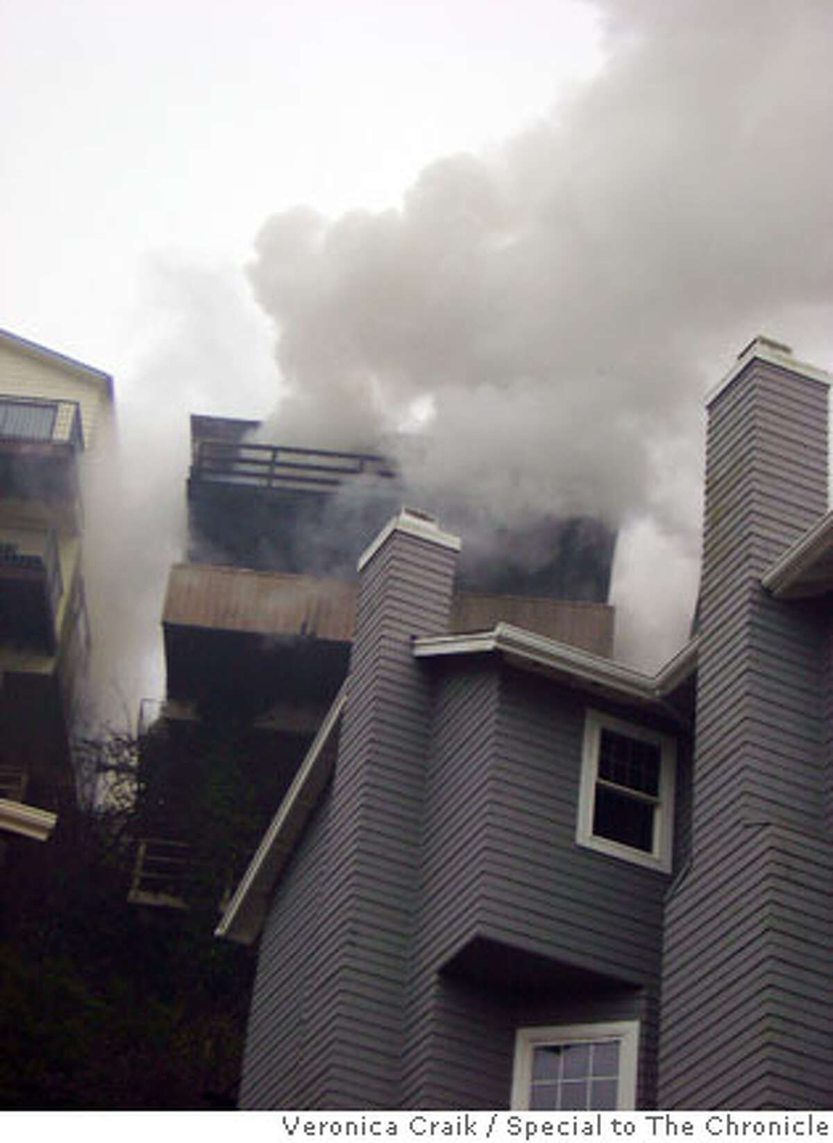 The fire broke out at 171 Devonshire Way in San Francisco. Photo by Veronica Craik, special to The Chronicle