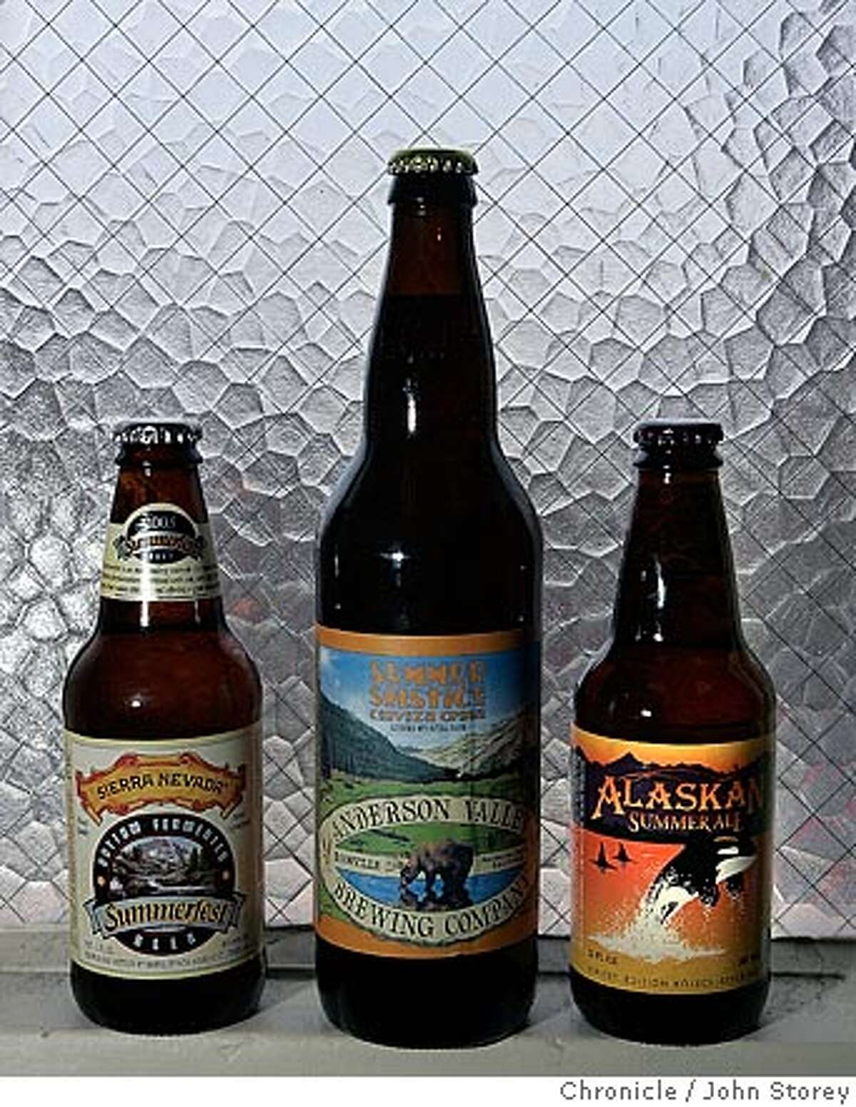 Beer of the month for the wine section: Anderson Valley Brewing Co. Summer Solstice ; Alaskan Summer Ale and Sierra Nevada Summerfest Beer. John Storey San Francisco Event on 7/21/05 -