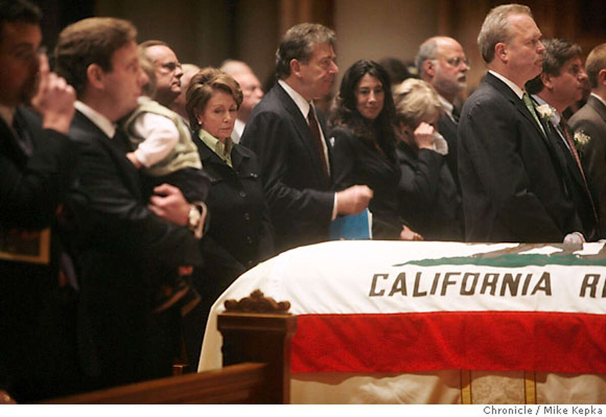 Speaker of the House Nancy Pelosi paid her respects during a funeral held for former Lt. Governor Leo T. McCarthy Friday 2/9/07 at St. Ignatius Church in San Francisco, Calif. Mike Kepka / The Chronicle Nancy Pelosi (cq)