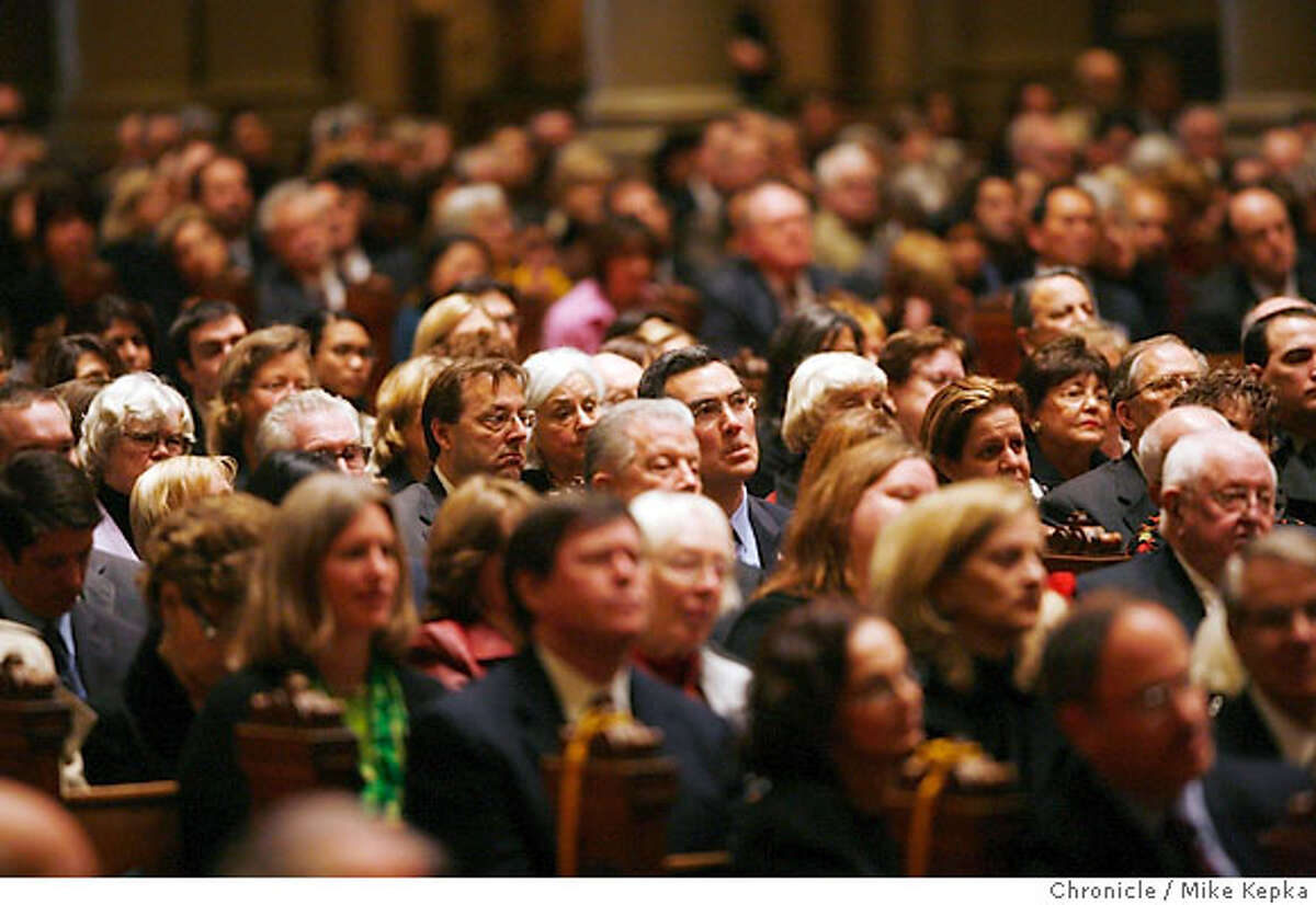 A full house watches from the pews during funeral services held for former Lt. Governor Leo T. McCarthy Friday 2/9/07 at St. Ignatius Church in San Francisco, Calif. Mike Kepka / The Chronicle (cq)