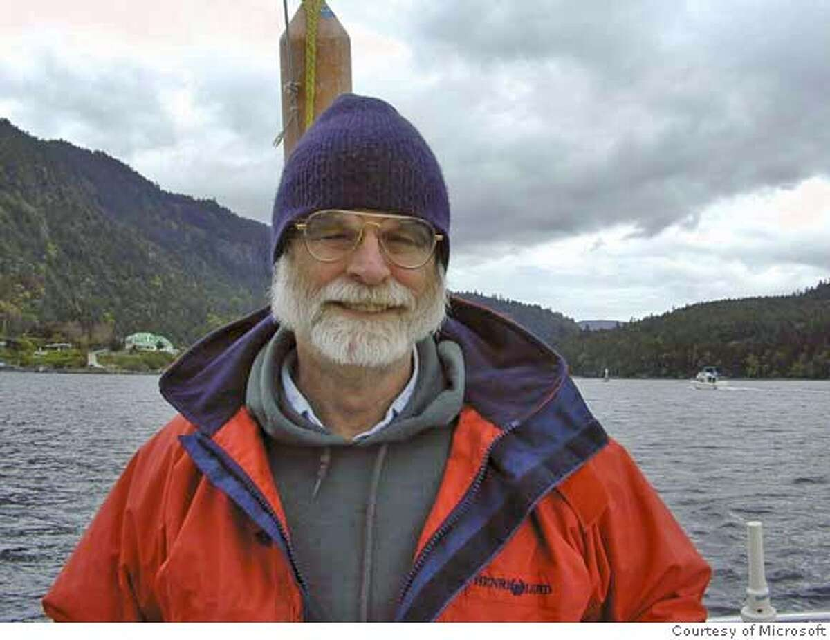 This undated photo provided by Microsoft shows Jim Gray, 63, of San Francisco. The U.S. Coast Guard searched the waters off Northern California Wednesday, Jan 31, 2007, for Gray, a prominent computer scientist, who never returned from a sailing trip to scatter his mother's ashes at sea. (AP Photo/Microsoft) ** ** Ran on: 02-01-2007 Jim Gray never returned from a voyage to the Farallones to scatter his mothers ashes. Ran on: 02-01-2007 Jim Gray never returned from a voyage to the Farallones to scatter his mothers ashes. Ran on: 02-02-2007 Jim Gray, a top computer scientist, has been missing since Sunday, when he failed to return from a solo voyage. Ran on: 02-02-2007 Jim Gray, a top computer scientist, has been missing since Sunday, when he failed to return from a solo voyage. Ran on: 02-02-2007 Jim Gray, a top computer scientist, has been missing since Sunday, when he failed to return from a solo voyage. UNDATED PHOTO PROVIDED BY MICROSOFT;