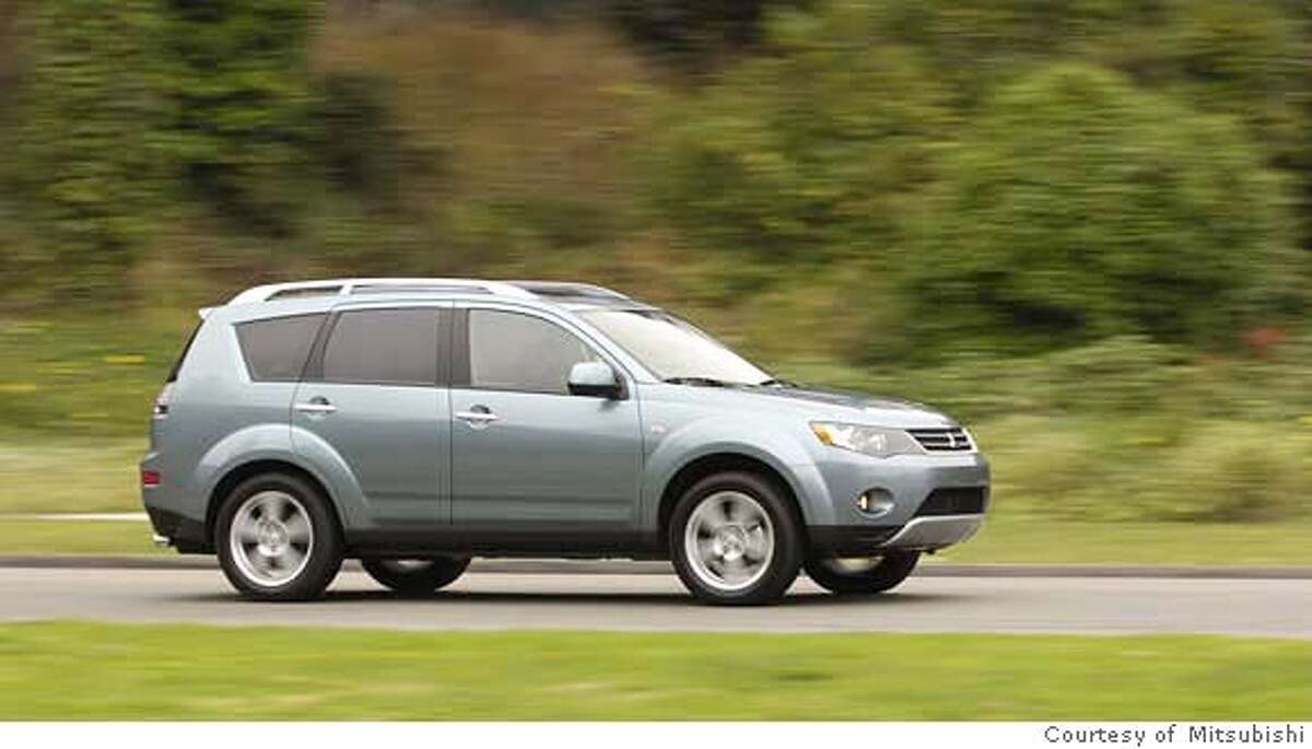 The 2007 Outlander is a compact, car-based, unitized-body crossover utility vehicle. Mitsubishi has jettisoned its bulge-nosed front end in favor of a friendly grille of modest aperture bracketed by smartly angled headlamps. Illustrates WHEELS-OUTLANDER (category l), by Warren Brown � 2006, The Washington Post. Moved Friday, Sept. 8, 2006. (MUST CREDIT: Mitsubishi.) Ran on: 09-24-2006 The 2007 Outlander, a worthy rival of the top-notch Acura RDX and Mazda CX-7 compact crossover utility vehicles, is a value at $19,000. Ran on: 09-24-2006 ALSO Ran on: 11-26-2006 Ran on: 11-26-2006 Ran on: 11-26-2006 Ran on: 02-09-2007 Ran on: 02-09-2007 Ran on: 02-09-2007 Ran on: 02-09-2007