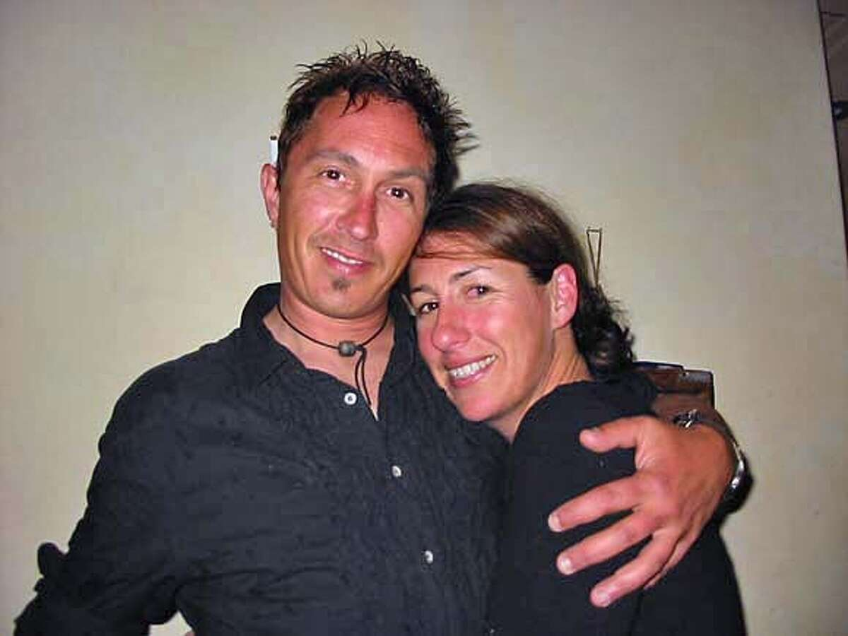 Michael Keenan, the man who was burned in the fire on Bonita. The woman in the photo is an old friend, Stacie Crajchir. Please note, this is one of his close friends, but not his girlfriend. HANDOUT PHOTO