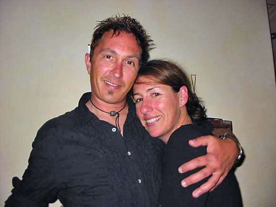 Michael Keenan, the man who was burned in the fire on Bonita. The woman in the photo is an old friend, Stacie Crajchir. Please note, this is one of his close friends, but not his girlfriend. HANDOUT PHOTO Photo: Handout