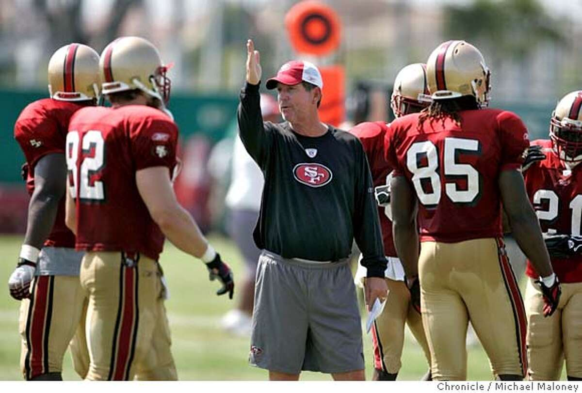 Offensive Coordinator Norv Turner 49ers practice at their Santa Clara training facility. Photo by Michael Maloney / San Francisco Chronicle on 8/2/06 in Santa Clara,CA Ran on: 08-03-2006 When Troy Aikman (above) arrives at the Pro Football Hall of Fame, hell no doubt thank Norv Turner (left) for pointing him in the right direction. Ran on: 08-03-2006 When Troy Aikman (above) arrives at the Pro Football Hall of Fame, hell no doubt thank Norv Turner (left) for pointing him in the right direction. MANDATORY CREDIT FOR PHOTOG AND SF CHRONICLE/ -MAGS OUT