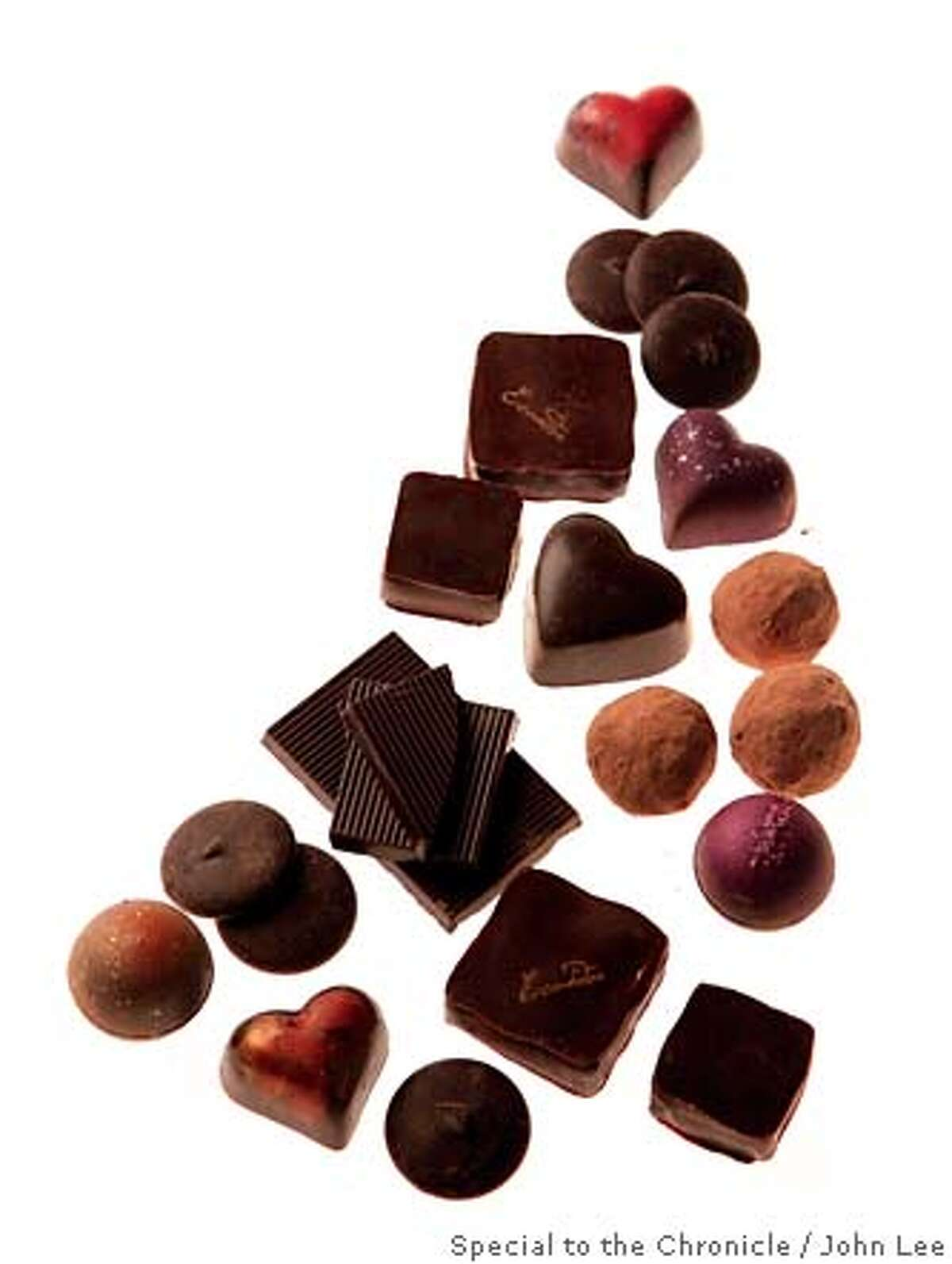 CHOCOLATE09_PAIR_COVER_01JOHNLEE.JPG For Ellie Winter. Chocolates and dessert wines, etc... Cover. By JOHN LEE/SPECIAL TO THE CHRONICLE