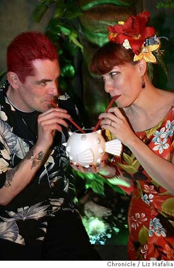 SPIRITS09_PH045_LH.jpg Fugu being sipped at the Forbidden Island bar.  Photographed by Liz Hafalia in Alameda on 2/1/07 Photo: Liz Hafalia