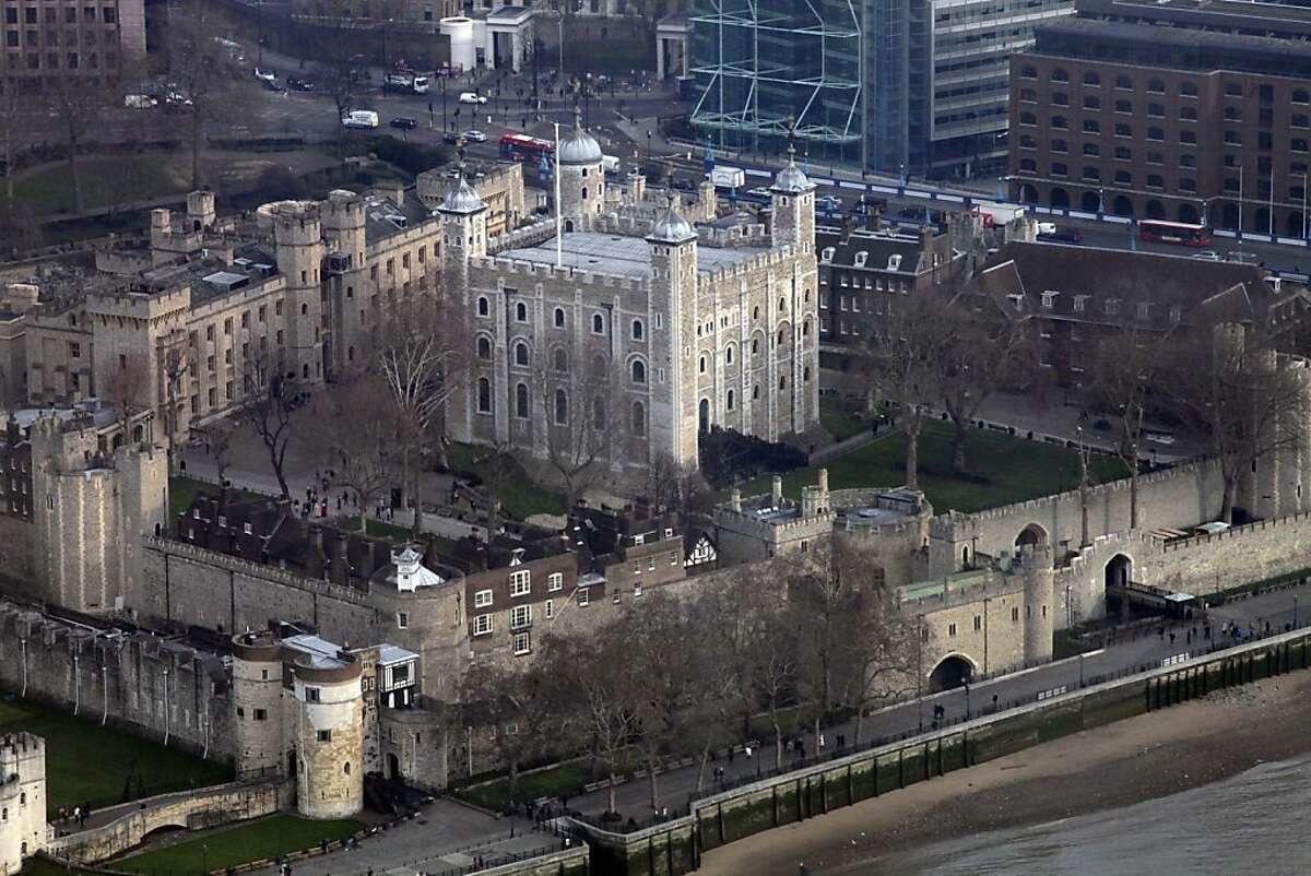 A view of the Tower of London, Tuesday, Jan. 17, 2012. (AP Photo/Lefteris Pitarakis)