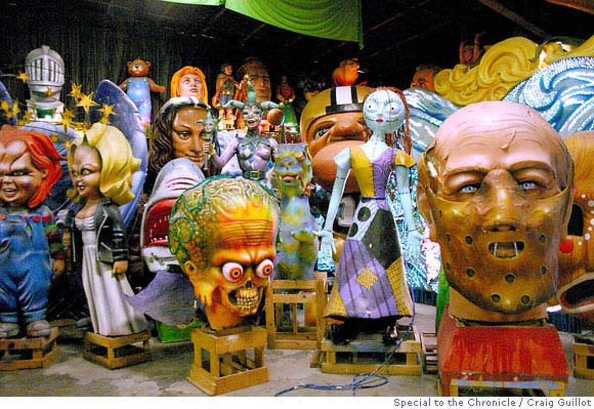 TRAVEL MARDI GRAS -- Visitors can go behind the scenes to see where Mardi Gras props and floats are made at Blaine Kern's Mardi Gras World in New Orleans. Craig Guillot / Special to the Chronicle 2006 One-time print; OK for SFGate use