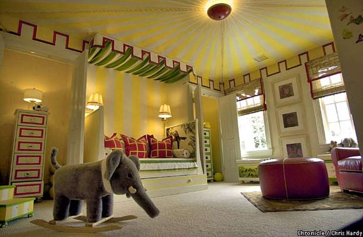 SAN FRANCISCO DECORATOR SHOWCASE HOUSE IN SEACLIFF Kids bedroom -----CHRONICLE PHOTO BY CHRIS HARDY
