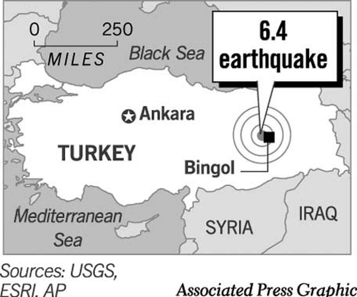 Earthquake in Turkey. Associated Press Graphic