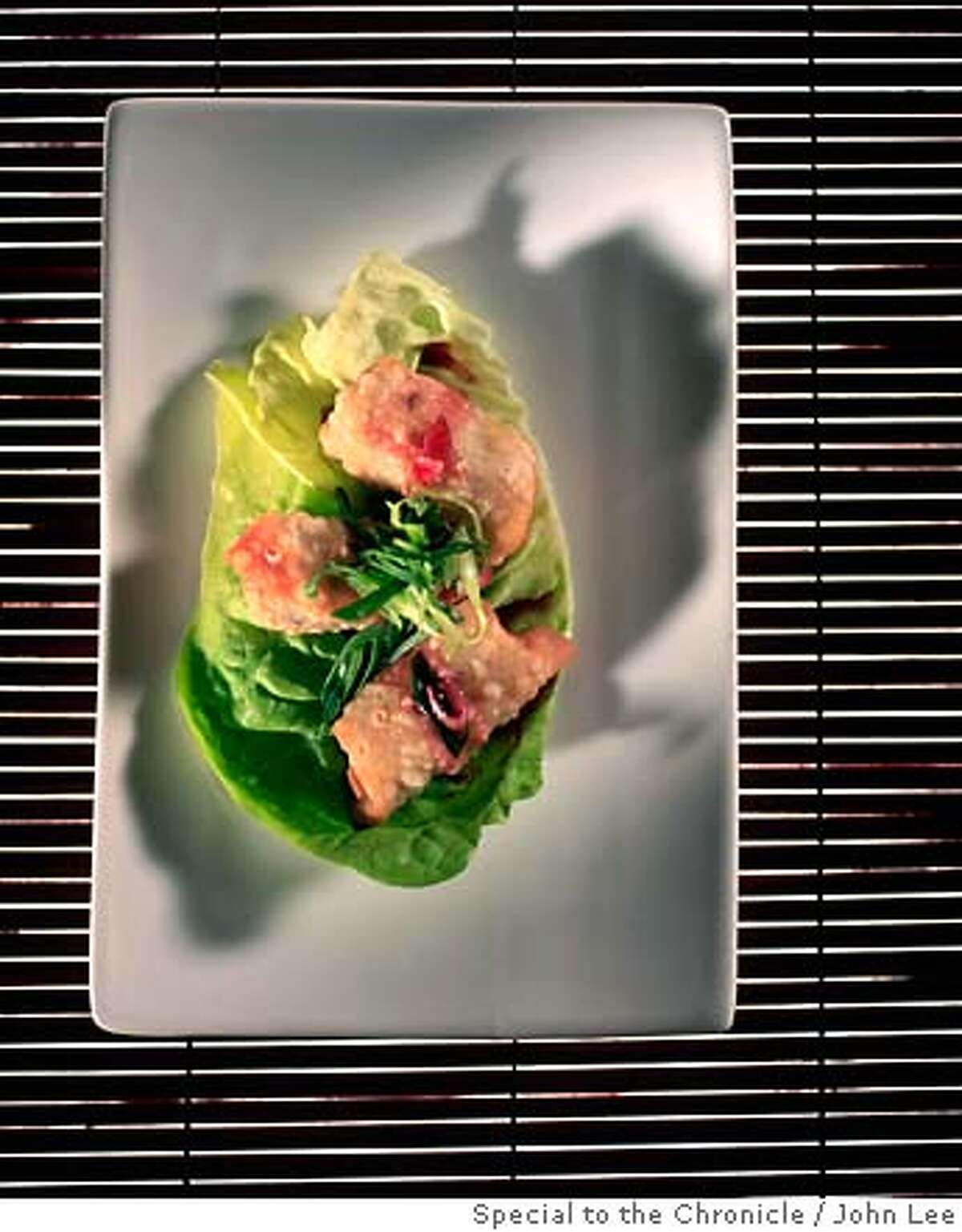SEASONAL07_01JOHNLEE.JPG Mushroom and duck confit spring rolls. By JOHN LEE/SPECIAL TO THE CHRONICLE