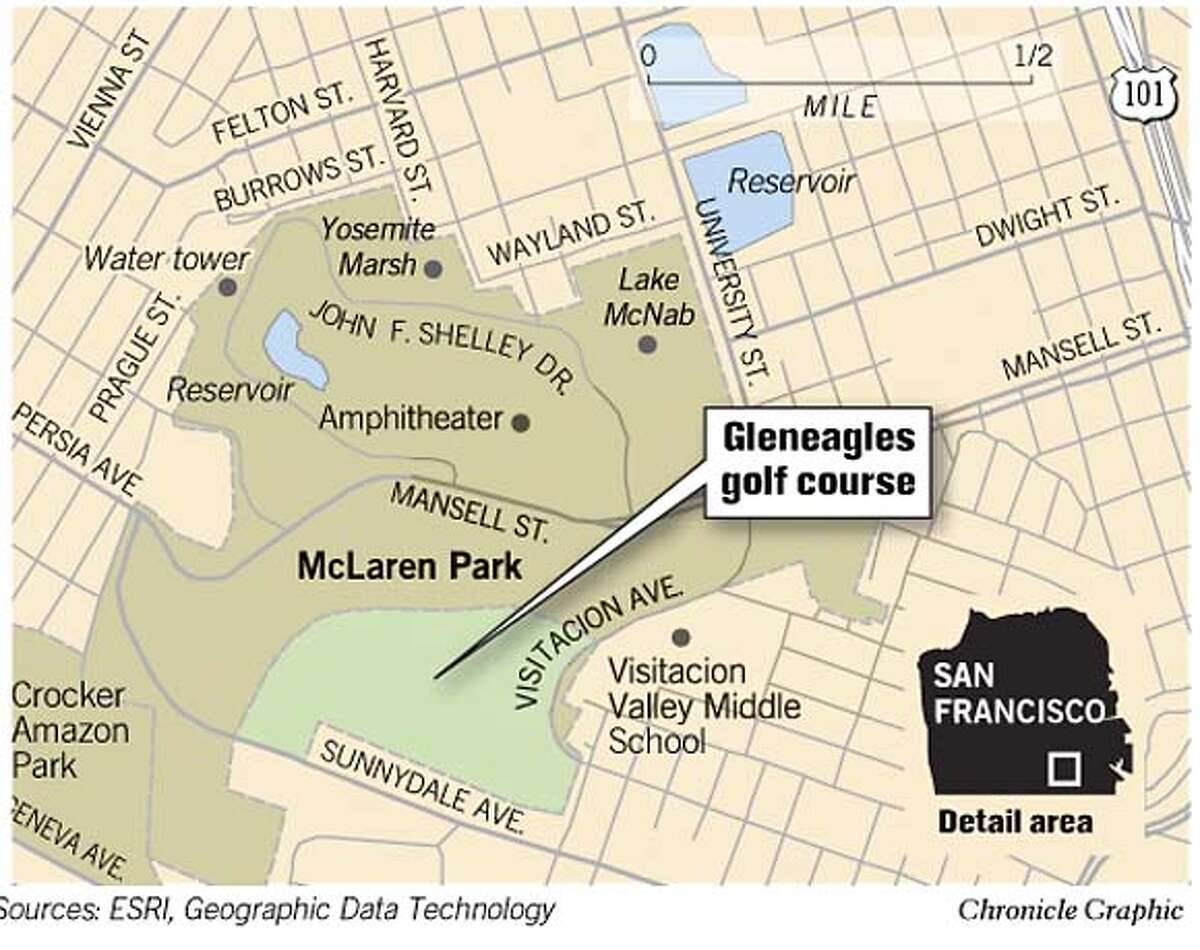 Gleneagles Golf Course. Chronicle Graphic