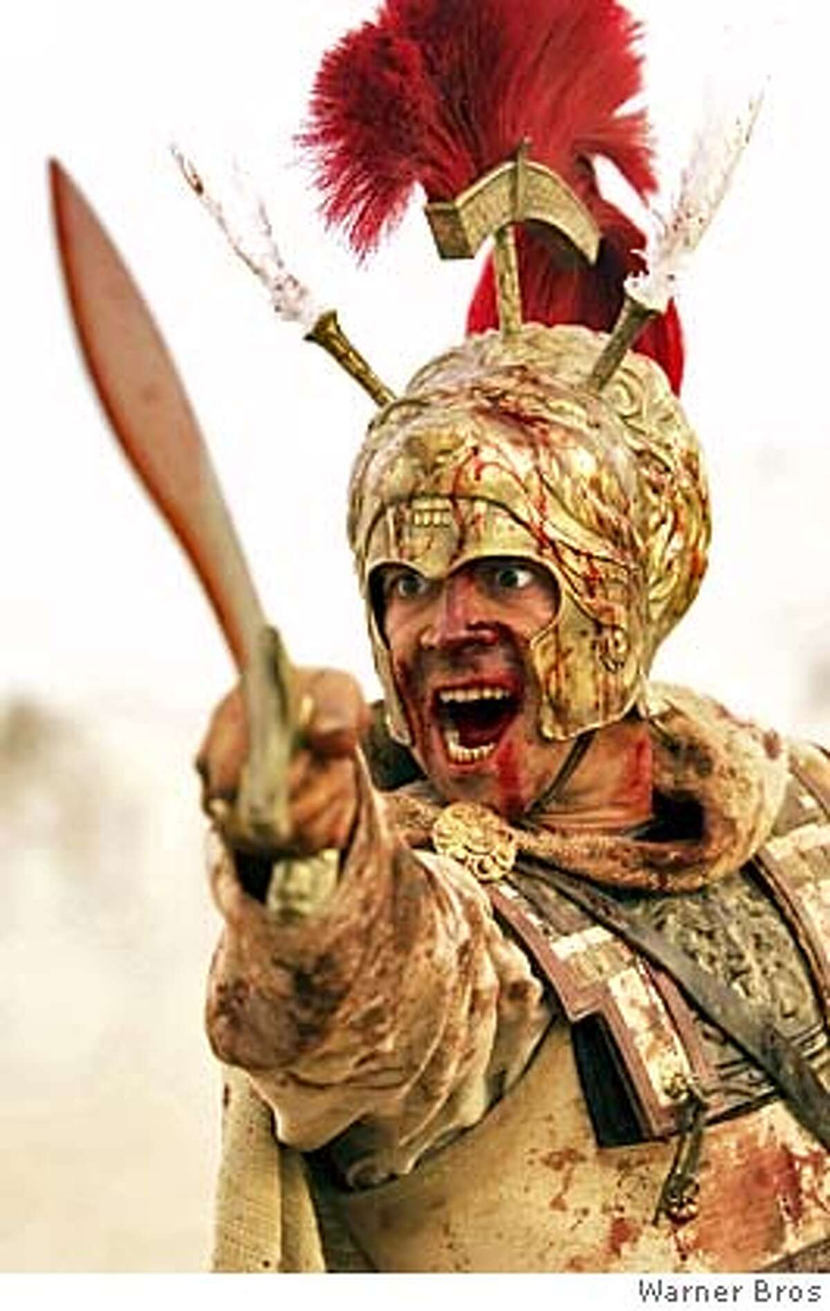 Actor Colin Farrell portrays Alexander the Great in a scene from the new action adventure drama film