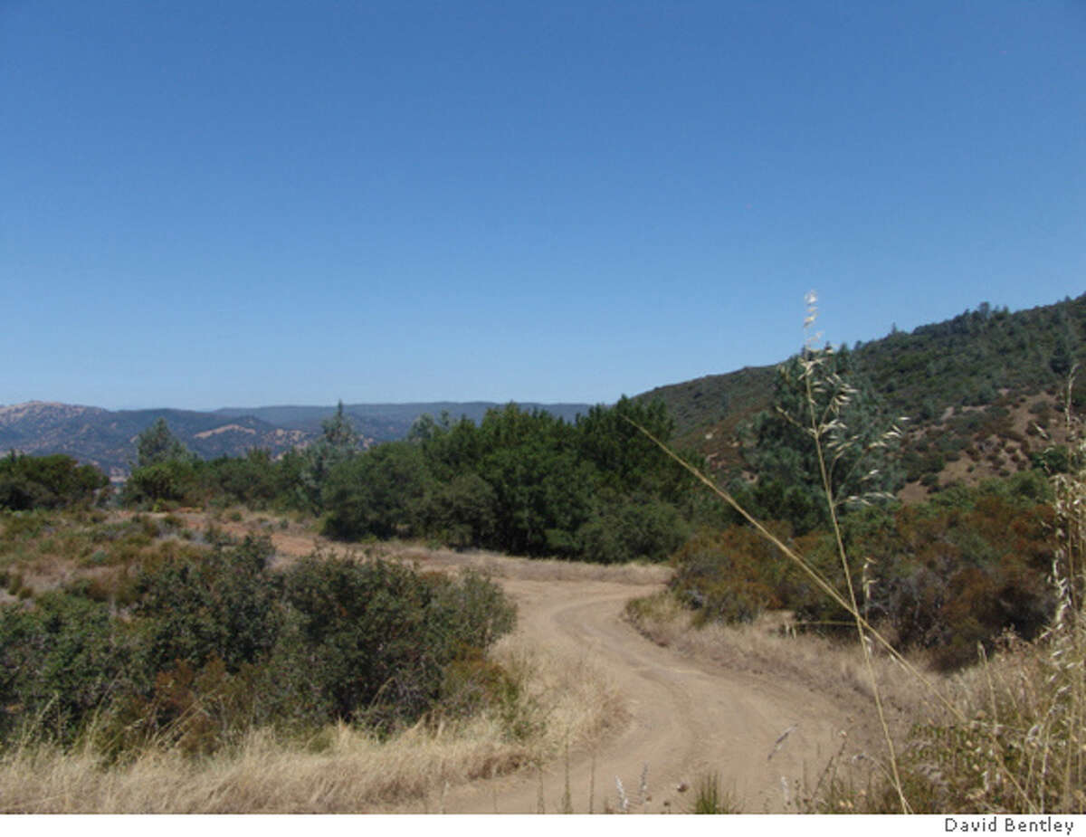 A gravel road at Sage Creek Ranch, 933 acres in Napa County near St. Helene which is on the market for $25 million.
