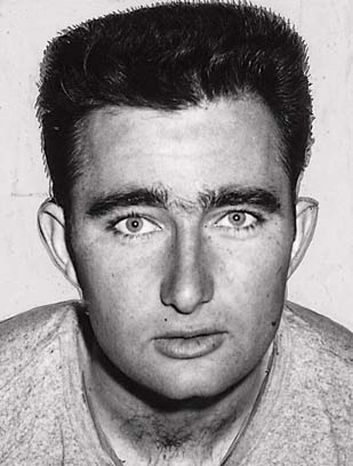 University of San Francisco Basketball Team - 1957 Mike Farmer, center Dated JAN 15, 1957