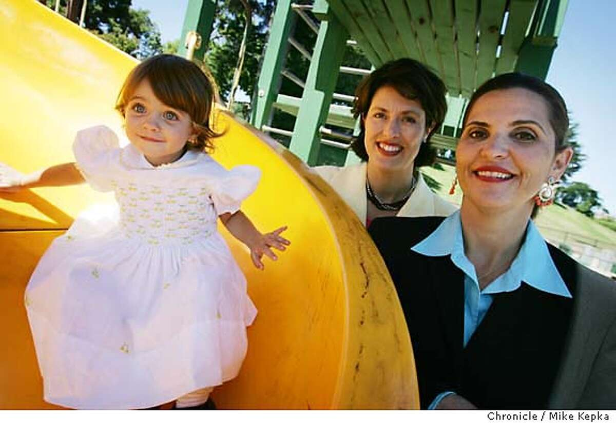 With Ava Regan Dunkak at the playground.....Julie Vargo (center) and Maureen Regan (rt) just released a new book about infertility call