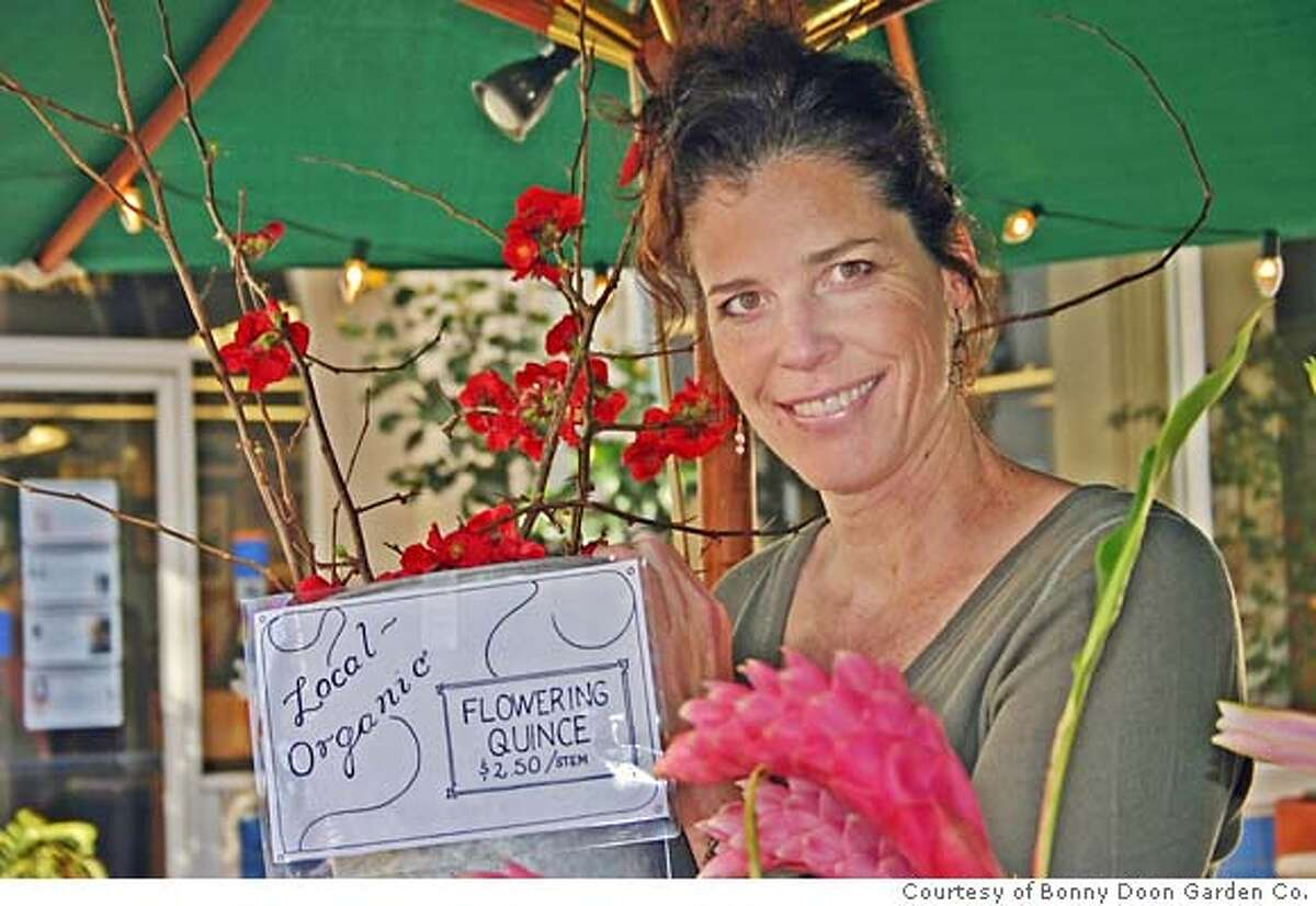 Teresa Sabankaya of the Bonny Doon Garden Company with organic flowers.