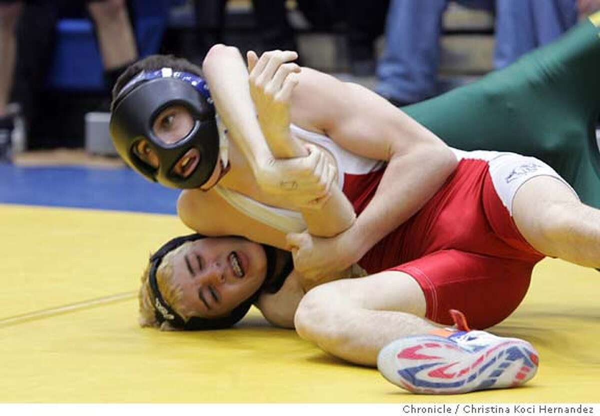 (Triggas on top.)News feature on wrestler Nikko Triggas, top-ranked 103-pound sophomore from Campolindo High.Here, he wrestles Kenny Smith, from Willits High School. His record is 41-2. He's trying to become Camplindo's first state champ since 1984. .CHRISTINA KOCI HERNANDEZ/CHRONICLE