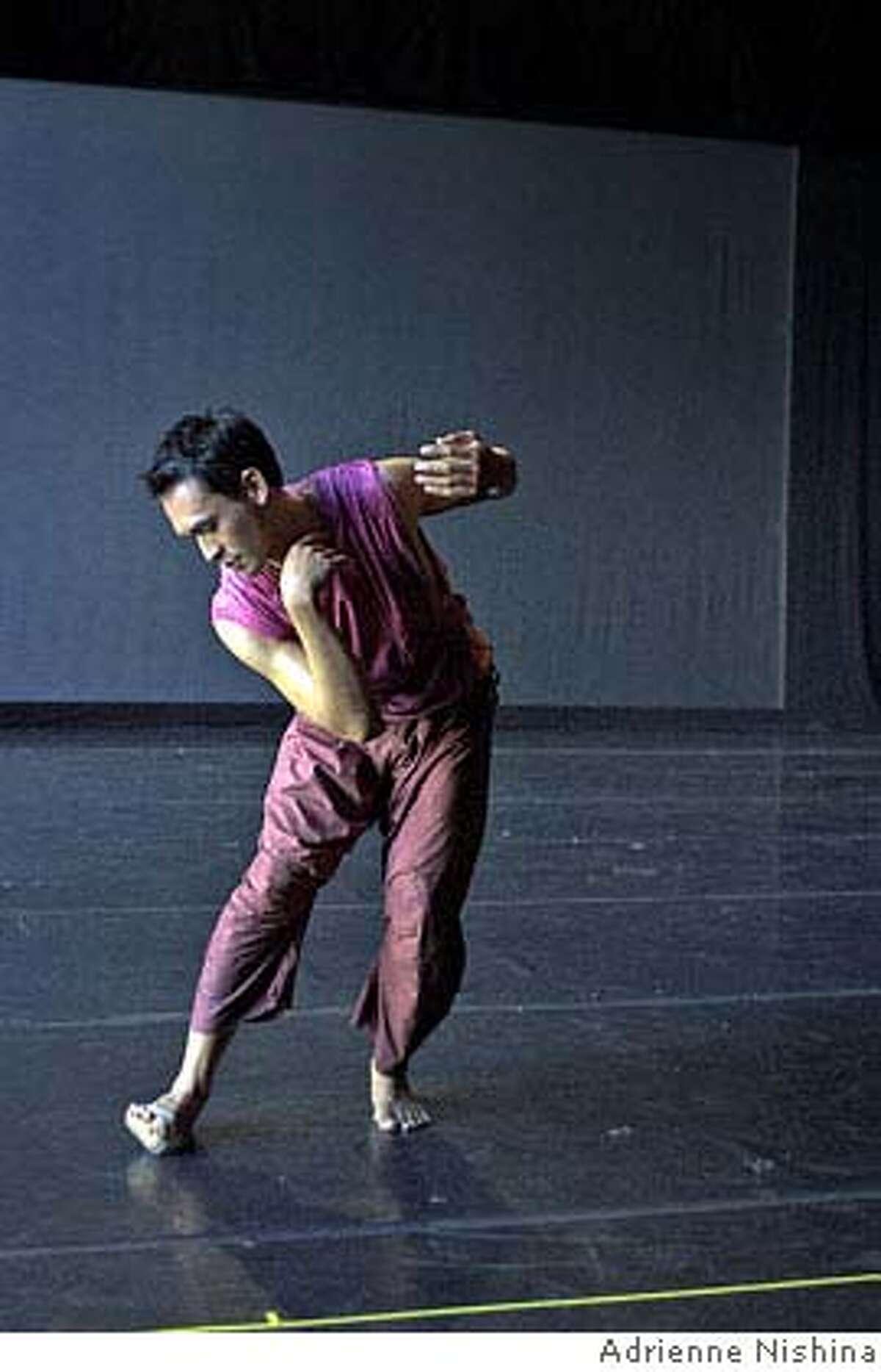 Photo of dancer Manuelito Biag. Credit: Adrienne Nishina